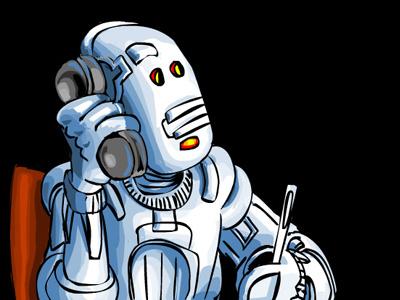 ContactBot robot vector funny cartoon