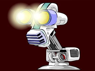MovieBot robot vector funny cartoon