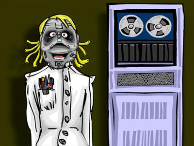 CodeBot robot vector funny cartoon