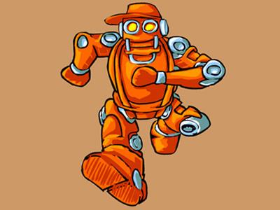 MechBot 2 robot vector funny cartoon