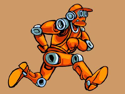 MechBot 1 robot vector funny cartoon