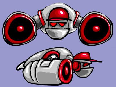 BullyAerialBot 1 robot vector funny cartoon