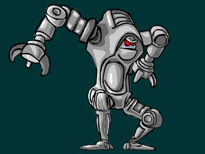 BullyGuardianBot 1 robot vector funny cartoon