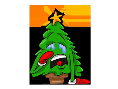 Nwell the Christmas tree 4 sticker tree christmas vector funny cartoon