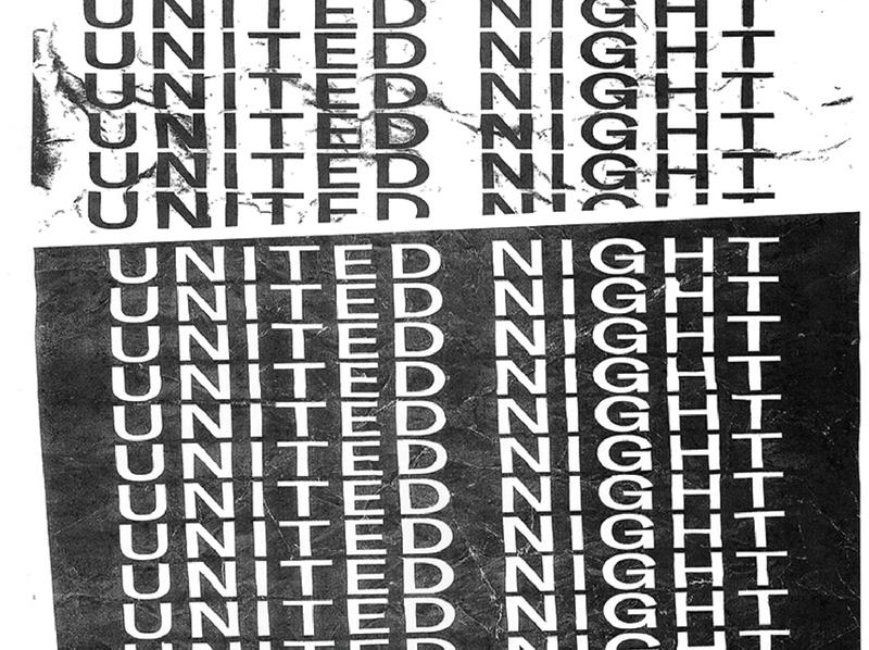 United Night type typography church