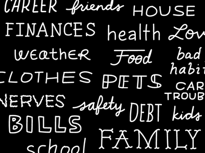 Worry life worry doubt lettering handwriting hand lettering handlettering