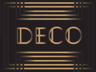 Nirosta Typeface / Art Deco