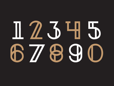 Nirosta Typeface / Numbers