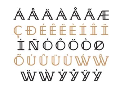 Nirosta Typeface / Diacritics