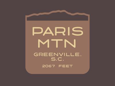 Paris Mountain Magnet