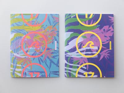 Gauntlet 2017 IV church summer camp beach neon pantone neon book covers book