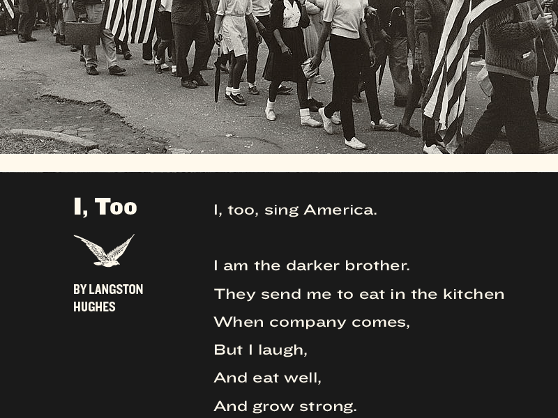 I, Too (Part 1) america poster poster design exquisite corpse poem langston hughes black history month