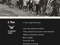 I, Too (Part 1)
