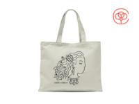 Vegetable Lady Tote Bag tote tote bag radish carrot artichoke arugula tomato vegetables woman lady girl illustration