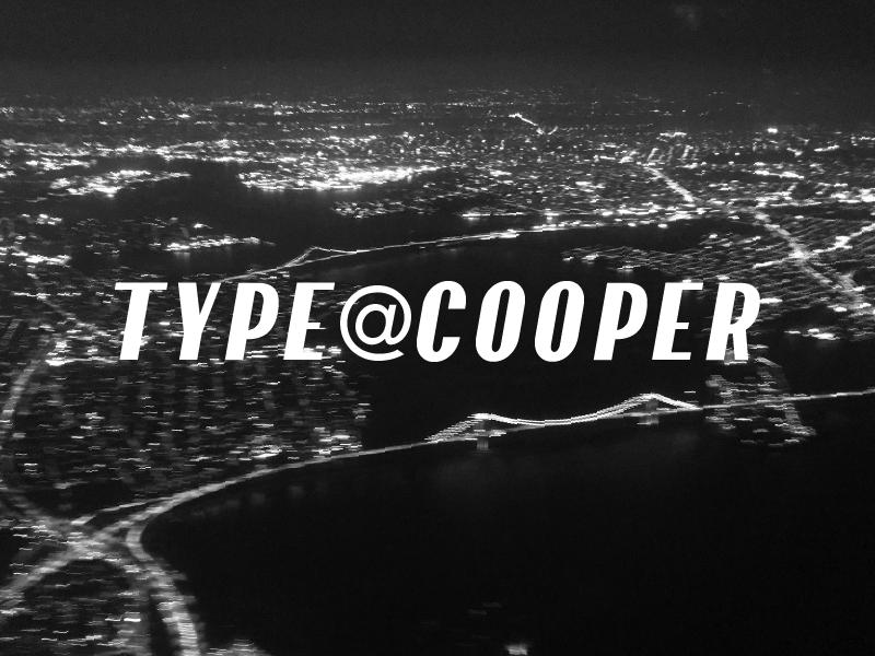 Type@Cooper type@cooper type design