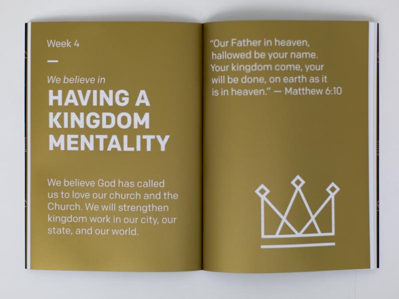 Core Values Devotional Book pms 871 gold pantone kingdom gold jesus gospel church devo devotional colfax book design book