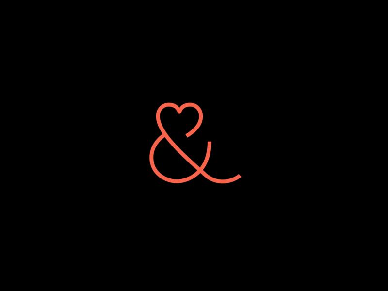 Heart Ampersand type font design type design heart ampersand heart and ampersands ampersand