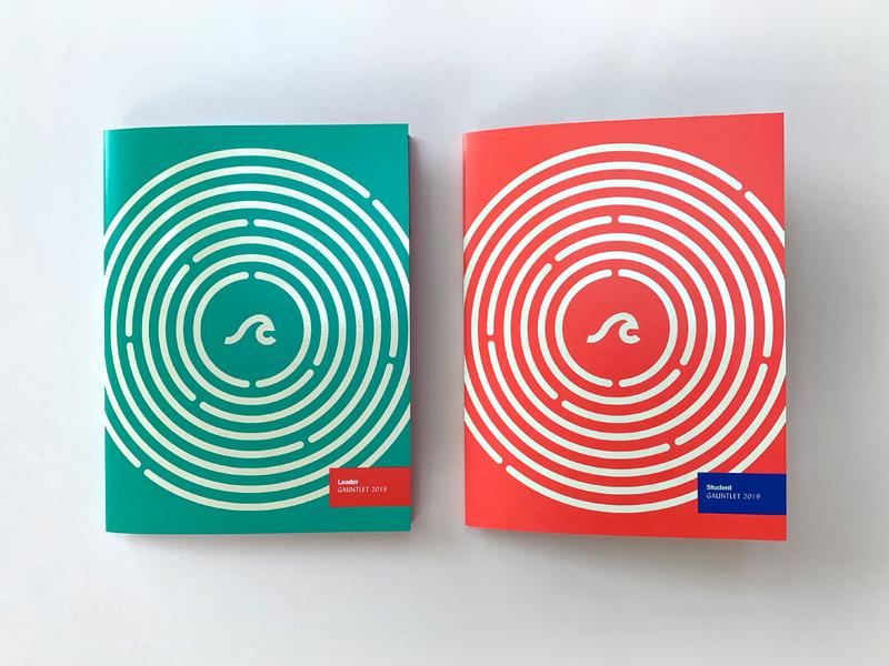 Gauntlet 2019 III layout cover typography camp book design book