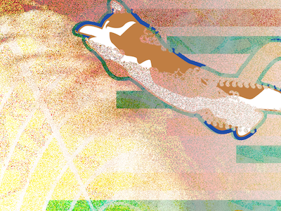 Cat Explosion illustration vector noise!