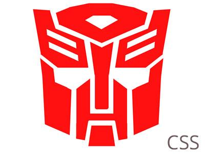 Autobot CSS html css design logo transformers