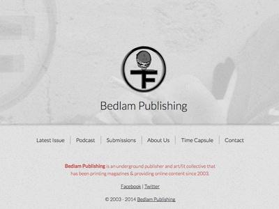 Bedlam Publishing: Index website html css design