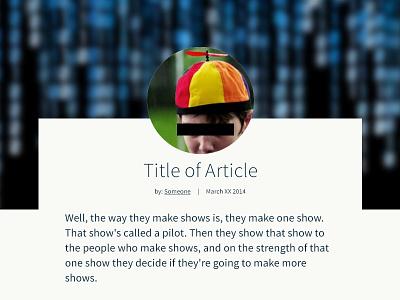 Blog Layout article blog layout web design