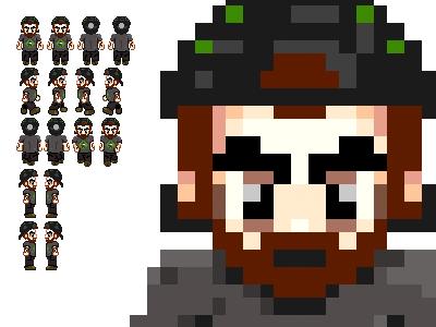 Sprite Sheet sprite video game illustration 16-bit