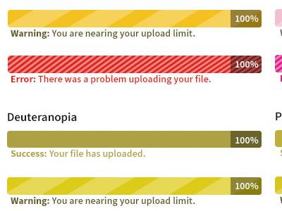 Progress Bars For Everyone progress bars ux color blind