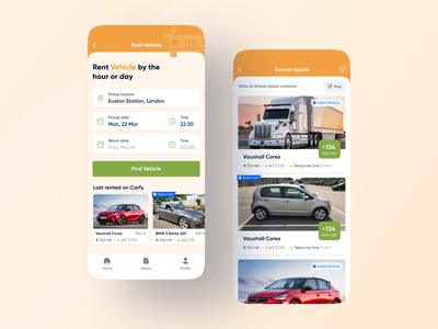 Carfy - Vehicle & Parking Finder App search parking app car app app designer app design productdesign mobile interface parking lot car spot vehicle gradient brand app branding clean interface minimal ux ui design