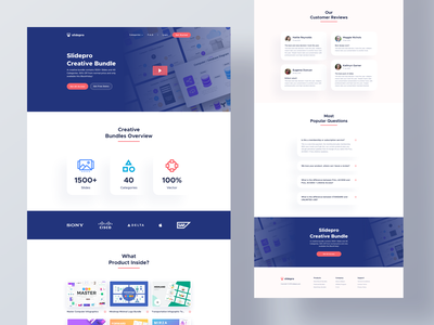 SlidePro - Landing Page typography landing website web clean interface minimal design ux ui