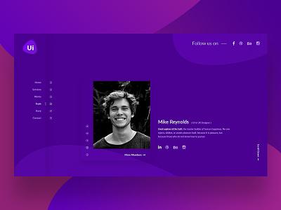 UI Creative Studio Sketch Template web portfolio minimal flat design creative agency team team profile