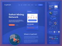 CryptCash Cryptocurrency website design