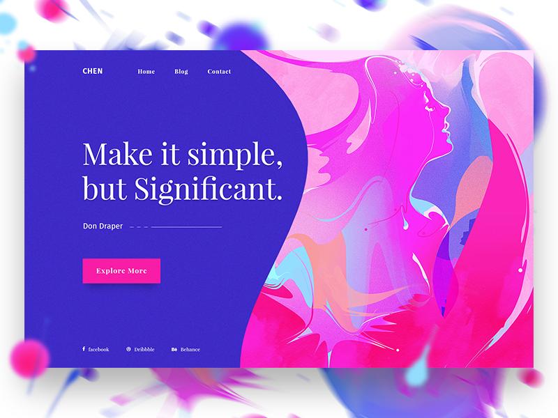 Minimal Design Concept #2 ui ux header slider minimal design dribbble colorful. web design gradient illustration