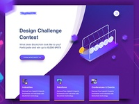 Blockchain Header Design Concept