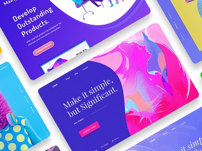Freebie | Header Collections colorful website header uiux mining bitcoin blockchain cryptocurrency ico free