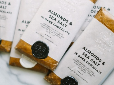 Chocolate? Yes, Please. embossing detail typography graphic design wedding packaging