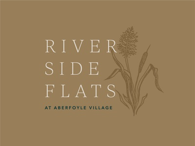 Riverside Flats Identity palette vector illustration vector art vector logo design brand illustration graphic design design color palette typography branding logo identity