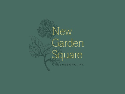 New Garden Square Identity vector illustration brand logo design illustration design graphic design color palette typography logo branding identity