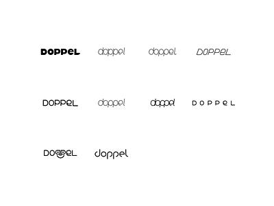 doppel letterform explorations custom text typography branding explorations letterforms logo