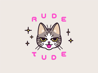RUDE TUDE rude logo mascot vector cute