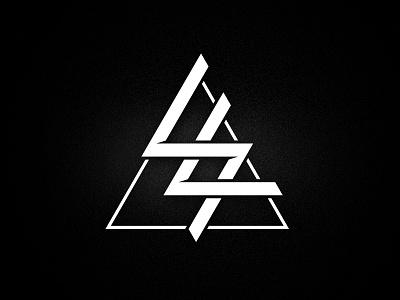 Striplicker Logo geometric music industrial black and white branding band logo striplicker
