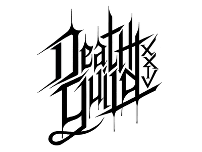 Death Guild XXIV goth death guild typography logo hand lettering