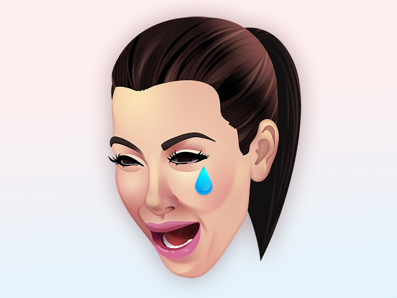 Kim Cry crying emoji photoshop ugly cry kimoji kim kardashian
