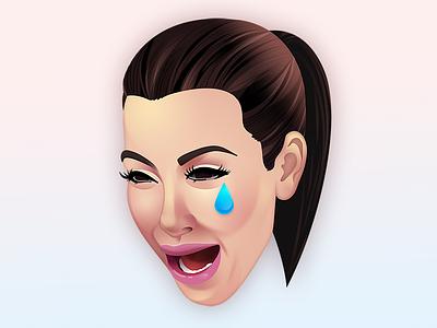 Kim Cry crying emoji photoshop ugly cry kimoji kim kardashian
