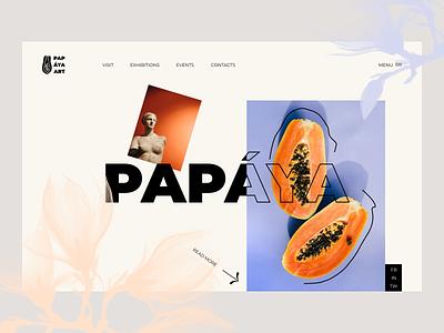 Papaya art beauty performance modern art works of art museum artwork creation papaya flowers sculpture paintings gallery art design branding fashion ui ux