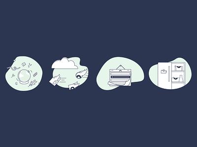 Hungryroot Illustrations vector dashboard food illustration