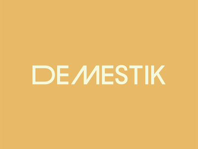 DEMESTIK fashion identity logo