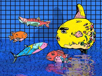MOLA MOLA Sunfish illustration poolparty pool rockfish tuna salmon garibaldi sunfish mola mola fishing fish