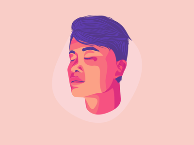 Tenzin Meditates funsies meditation vector illustration portrait