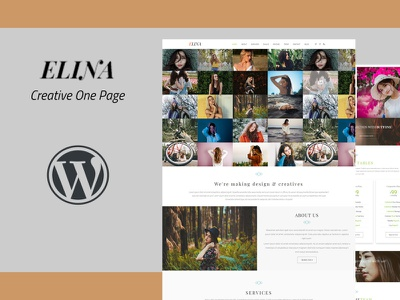 Elina - Creative WordPress Theme design